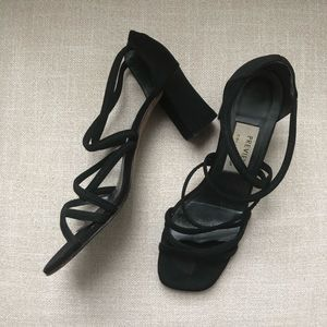 Preview Collection Black Strappy Heel 9.5 Vintage